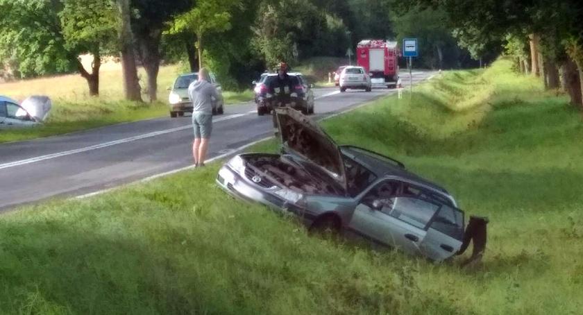 Wypadki drogowe , Zderzenie Oczywiście skrzyżowaniu Dalęcino - zdjęcie, fotografia