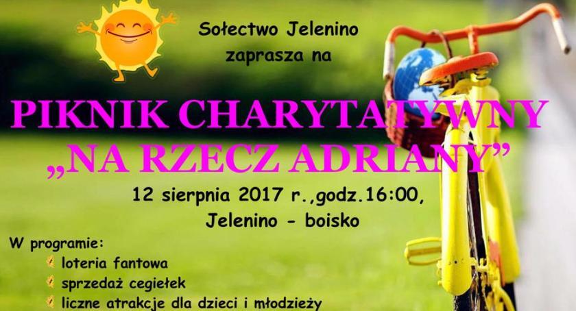 charytatywnie, Pomóżmy Adrianie wrócić zdrowia Zaproszenie piknik charytatywny - zdjęcie, fotografia