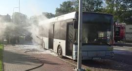 Pożar autobusu w Szczecinku!